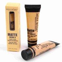 MISS ROSE Líquido Foundation Facial Concealer marcador de maquiagem Fair / Contourer Base Contorno Maquiagem Maquiagem Quente