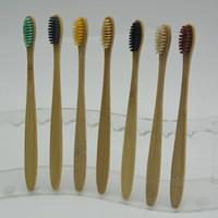 فرشاة الأسنان الصحة الشخصية البيئية الخيزران فرشاة الأسنان العناية بالفم أسنان متوسطة صديقة للبيئة فرش لينة تبييض الأسنان