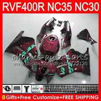 VFR400R para HONDA NC35 V4 R VF400R Vino tinto 1989 1990 1991 1992 1993 82HM.86 RVF VFR 400 R NC30 VFR 400R VFR400 R 89 90 91 92 93 Carenados