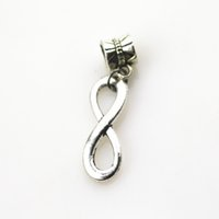Sıcak satış 20 adet / grup infinity charms big hole kolye boncuk charm fit nacklace bilezik diy takı dangle charms