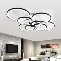 Modern Ceiling Lights Living Room Fixtures Acrylic Rings Bed...