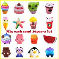 16PCS Lot Squishy Strawberry Cake ice cream chocolate squish...