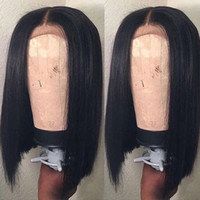 13x6 Pelucas frontales de encaje de la parte profunda de 13x6 con cabello bebé Pelucas de cabello cortas cortas de pelo corto Pelucas Vírgenes brasileños para mujeres negras 9A