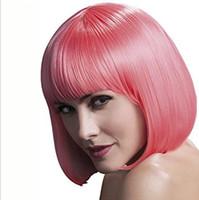 Explosivo, peruca, exportação europeia e americana rosa, Bobo cabelo curto cabeça, franja pura, cos cabelos curtos cabelos fofos senhora set.