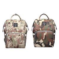 Lequeen 방수 미라 기저귀 가방 카모 인쇄 배낭 대용량 베이비 케어 베이비 가방 기저귀 배낭