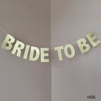 Flagge Braut, Gold Glitter Banner mit Diamant-Ringe Bridal Shower Decors Bachelorette Party Dekore Hochzeit Garland sein