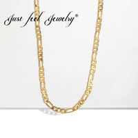 JUST FEEL Fashion Collane lunghe per donna Punk femminile Golden Link Catena Collana Statement Uomo Uomo Choker Gioielli 2018 Bijoux