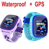 IP67 wasserdicht DF25G GPS Kinder Smart Watch Phone 1.22 Zoll Touch Screen SOS Ortungsgerät Tracker Kids Safe Anti-Verlorene-Monitor