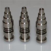 التيتانيوم مسمار 6 في 1 Domeless GR2 ل16mm وسخان لفائف لأنثى ذكر 14MM مشترك منصة للنفط 18mm والزجاج بونغ المياه بايبر