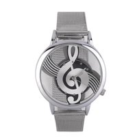 OUTAD Music Note Design Hollow Out Unisex Watches Steel Stra...