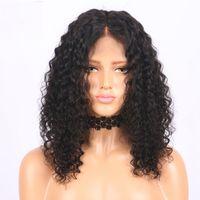 Peluca delantera de encaje sintético Kinky Curly Hairline natural Cordón delantero Pelucas naturales Pelucas Sintéticas