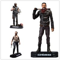 The Walking Dead PVC figura de ação Rick Daryl Negan Collectible Modelo Brinquedos Presente de Natal