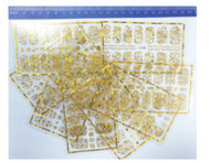Autoadesivi di arte del chiodo dell'oro 3D dell'oro Decorazione della decorazione di disegno Pellicole di marca Adesivi di bellezza per le unghie Accessori Strumenti di decalcomanie