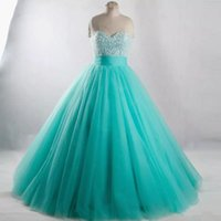 2018 New Quinceanera Dresses Long Sweet 16 Crystal Beading B...