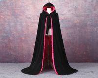 Горячий плащ с капюшоном бархат атласный бархат с капюшоном плащ Мыс средневековый Ренессанс костюм LARP Хэллоуин необычные платья бархат косплей одежда