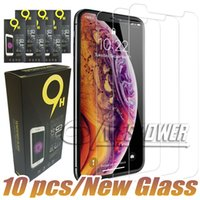 غطاء كامل الزجاج المقسى ل iPhone X XS MAX XR Samsung A30 A40 A50 A60 A80 A80 حامي الشاشة مع حزمة ورقة