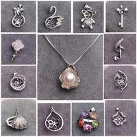Mljy Pearl Necklace Instellingen 925 Sliver Hanger Instellingen Stijlen Mix DIY Parel Ketting voor Vrouwen Sieraden Instellingen met Ketting Cadeau