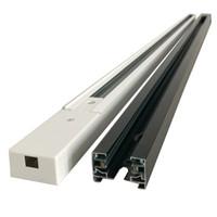 LED Schienen Lichtschiene 1 Meter 2 3 4 Draht Spot Schiene Schwarz Weiß Aluminium Dick Leuchten Universal Schienen Beleuchtung Strahler