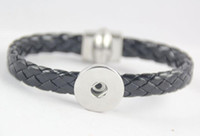 2020 Hot Sales PU Magneet Verwisselbare 18mm Dames Vintage DIY Snap Charm Button Manchet Bracelets Noosa Stijl Armbanden 20pcs / lot