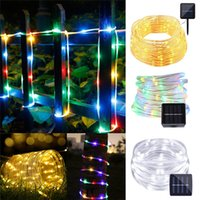 12M 100leds Solar LED String Lights Outdoor Colorful Rope Tu...