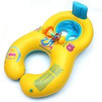 Надувные детские плавание шеи кольцо мать и ребенок плавание круг двойной плавательный кольца поплавок место piscine