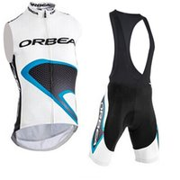 오르 테 팀 사이클링 민소매 유니폼 (BIB) Maillot 반바지 세트 프로 의류 산 통기성 경주 스포츠 자전거 소프트 피부 친화적 인 믹스 42601