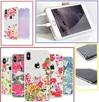 Beautiful flowers TPU Painted cell phone Case For iPhone X 5...