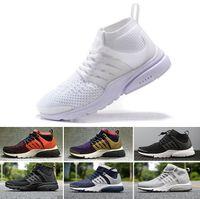 NIKE Air Presto Flyknit Ultra basketball shoes Wholesale 2018 Prestos Chaussures  de Course Hommes triple noir fc1909125568