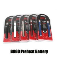 BOGO LO подогрев батареи двойной ручка зарядное устройство блистерная упаковка комплект переменное напряжение VV 400mAh аккумулятор для 510 резьба толстые масляные картриджи