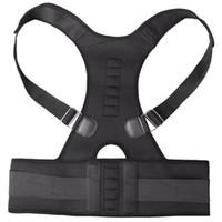 Hot Unisex Correia de Suporte da Espinha Corrector Postura Magnética Neoprene Back Corset Brace Alisador de Ombro Cinto de Volta