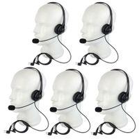 5X En Iyi 2Pin PTT MIC Kulaklık Kulaklık Motorola Walkie Talkie Radyo Yeni + Parça için