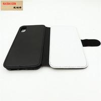 Iphone X / 8/7 Artı / 6/6 S / 5/5 S / SE / 5C / 4 S / 4 Süblimasyon 2D deri PU cep telefonu kılıfı cep telefonu kapak