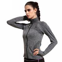 Giacche da donna Quick Dry Sport Felpa a maniche lunghe per abiti da donna per Running Fitness Sport Zipper Fleece Capispalla