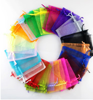 100pcs white black, Royal blue , pink Etc. 20 colors Organza...