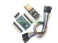 Spedizione Gratuita 1 PZ pin Modulo CP2102 + 1 PZ Pro Mini Modulo Atmega328 5 V 16 M Per Arduino Compatibile con