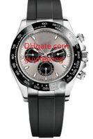 Мужские резиновые ремень спортивные часы 116519 роскошные наручные часы автоматические механические часы 18K белый золотой керамический безель мужские часы нет хронографа
