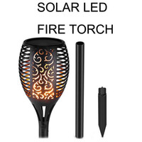 2018 new type LED Solar Flame Flickering Lawn Lamp Torch Lig...