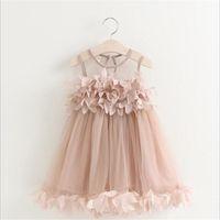 جديد الصيف شبكة الفتيات ملابس أطفال بنات زين فستان الأميرة ملابس الأطفال الصيف طفل الفتيات اللباس