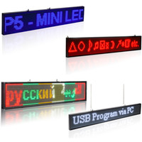 Leadleds P5 SMD Led Wireless open Sign Programmable Scrollin...