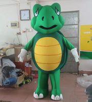 f2538125ad22b 2018 de alta qualidade o traje verde da mascote da tartaruga de mar da  cabeça para