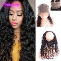 9A Malaysian Natural Black Color 360 Lace Frontal Free Part ...