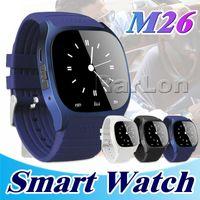 M26 Smartwatch Bluetooth Smart Watch für Android-Mobiltelefon mit LED-Anzeige Music Player-Schrittzähler im Einzelhandelspaket