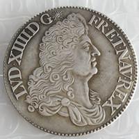 Frankrike 1 ecu - Louis XIV 1689 Kopiera mynt Brass Craft Ornaments Replica Coins Heminredning Tillbehör