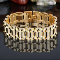 Free shipping gold 316L stainless steel Biker jewelry Men...