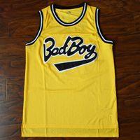 Notorious B.I.G. Biggie Smalls # 72 Maillot de Basketball Bad Boy Cousu Maillot Jaune Hommes Maillots de Basketball Or Pas Cher Vente