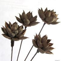 Flores secas de loto Flores artificiales Flores secas Muebles para el hogar Entrada natural Decoración de mesa Nueva moda