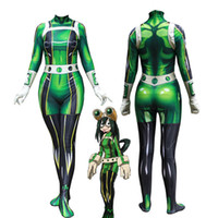Taille Asie Japon Anime My Hero Academia Tsuyu cosplay Halloween système sui Costume Lycar Parti Zentai Jumpsuit Bodysuit