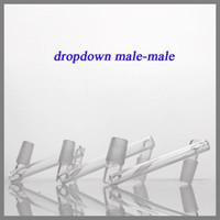 Verre Bong Adaptateur Vente Chaude conception Dropdown deux tailles 14.5mm 18.8mm mâle à mâle joint dropdown pour l'eau galss adaptateur