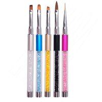 Professionelle Nail Art Zeichenstift Pinsel Multifunktions Weiche 3D Nail Painting Linien Design Stift Pinsel UV Gel Werkzeuge