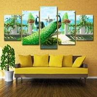 8 Photos Wholesale Peacock Decor For Living Room For Sale   Canvas Poster  Modular Home Decor HD Printed